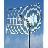 Antenna World G2421 Directional Compact Wifi Parabolic Grid Antenna