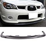 Pre-Painted Front Bumper Lip Fits 2006-2007 Subaru Impreza WRX STI | StI Style Glossy Black PP Front Lip Finisher Under Chin Spoiler Add On other color available by IKON MOTORSPORTS