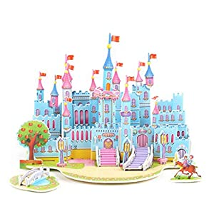 Orland 3D Paper Board Puzzle Early Learning Construction Assemble Toy Children Gift 3-D Puzzles