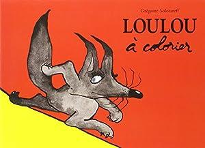 """Afficher """"Loulou à colorier"""""""