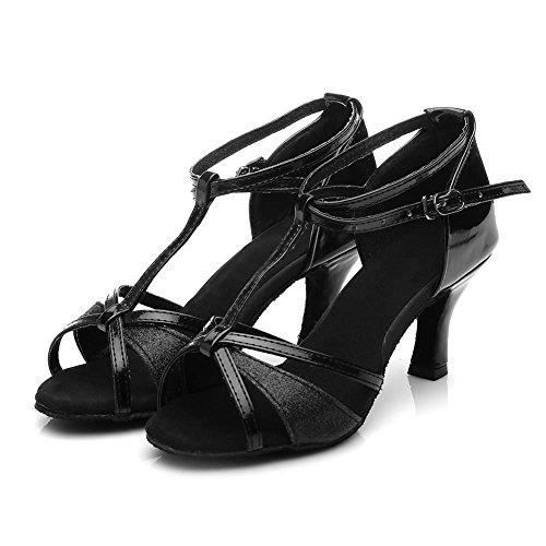 De Femmes En Bal md Uk255 Chaussures Satin Noir 7cm Pour Salle Hipposeus Modle wCOEUgqx