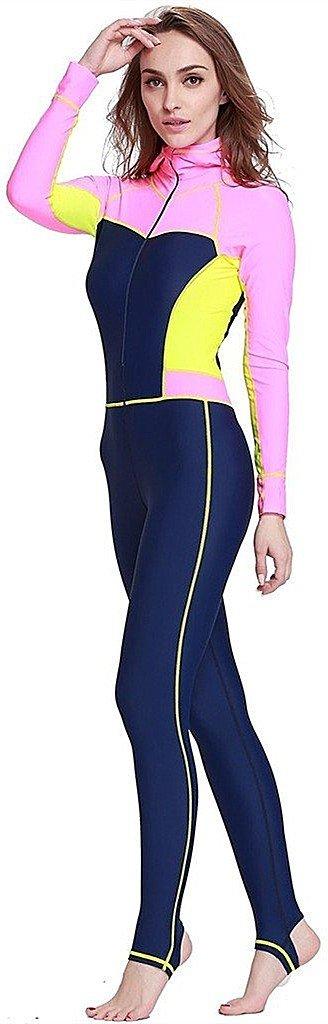 YEESAM Damen UV-Anzug UPF50 Schutz swetsuit Schwimmanzug Schnorchelanzug Overall Watersport Burkini