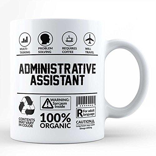 Funny Sarcasm Mug/Gift for Administrative Assistant Profession Job Humor Typography Black Coffee Mug By HOM