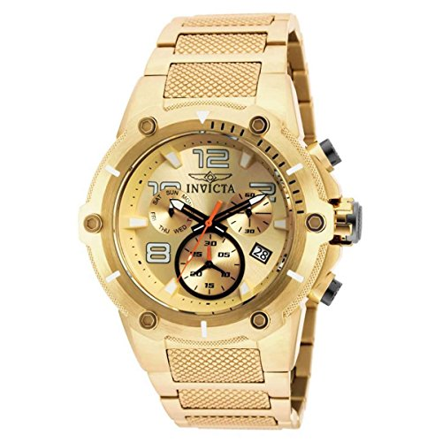Chronograph Dial Champagne (Invicta Speedway Chronograph Champagne Dial Gold Ion-plated Mens Watch 19529)