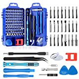 Screwdriver Set, Apsung 110 in 1 Repair Tool Kit Multi-function Magnetic Precision Screwdriver Set,Flexible Shaft Compatible with Mobile Cell Phone Iphone Android Ipad Computer Laptop Computer PC