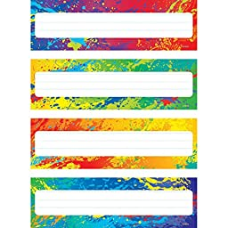 Trend Enterprises Splashy Colors Desk Toppers Name Plates (32 Piece), 2-7/8\