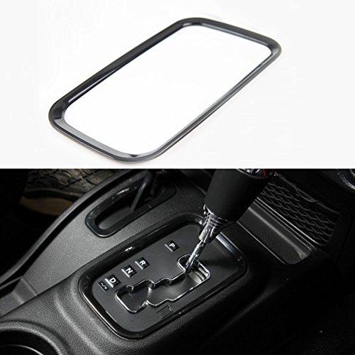 KUJOOY Carbon Fiber Grain ABS Hand Brake Handle Decor Frame Cover Trim for Jeep Wrangler 2011-2016