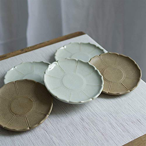 Kitchen Tea Set Porcelain Drinkware Set Saucers Creative Lotus Ceramic Dish Disc Snack Dish Coffee Cup Mat,#2 (Color : #1) by Chusea (Image #2)