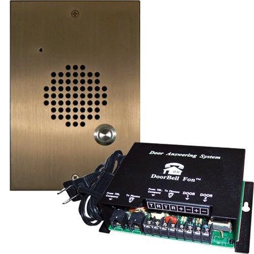 DoorBell Fon DP28 Door Answering System, M&S Mount, Brass (DP28-BM)