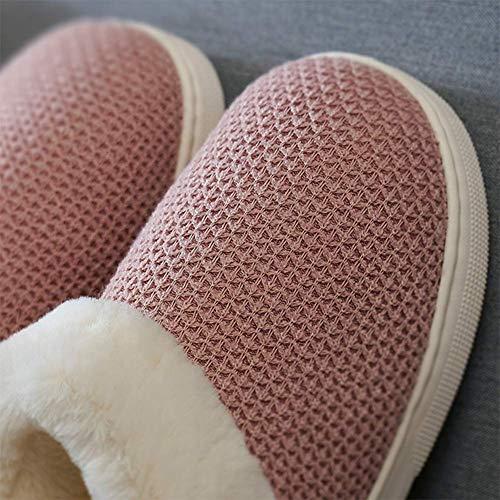 Femmes Intérieur Et Hommes Épais Chaud Hiver Fond Chaussure Couple X6pwxvf