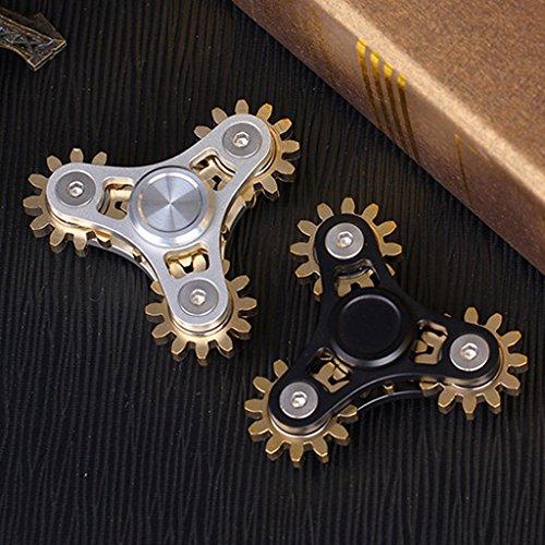 LXX-MD EDC brass Hand spinner fidget fingertip gyro 5 gears desk focus stress reliever