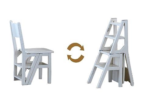 Scaletta In Legno Pieghevole : Sgabello alto di legno americano della scala della sedia di punto di