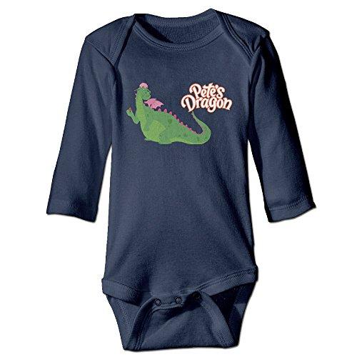Price comparison product image NINJOE Newborn Babys Cartoon Dragon Long Sleeve Jumpsuit Outfits Navy 24 Months