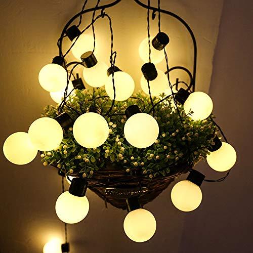 JBZP Guirnalda Luces Exterior 20MCadena de Luces 80 LED Impermeable Farolillos Decorativos, Conector USB Adicional, 8 Modos Luz Navidad para Hogar, Jardín, Arboles, Patio, Bodas, Fiesta, Interior,