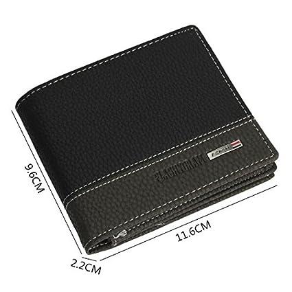 Black Hemlock Men Wallets Mens Bifold Wallet Card Holder Wallet Purse