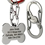 Pet ID Tag Quick Clip - Stainless Steel. Strong...