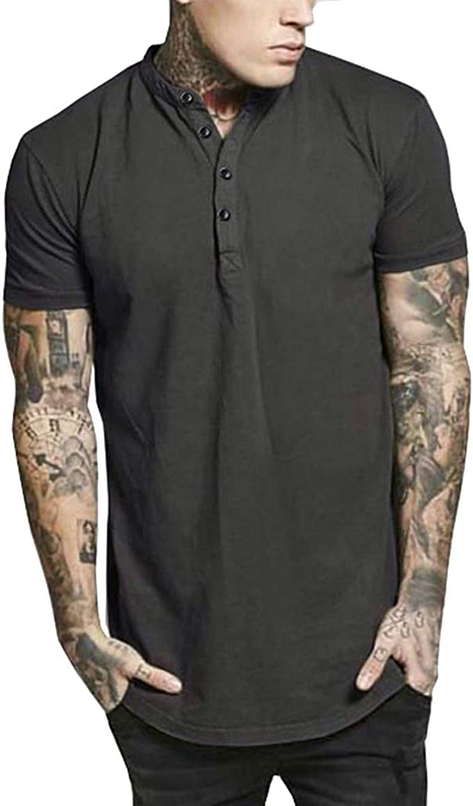 Men/'s Polo Shirts Summer Short Sleeve T Shirt Slim Casual Solid Dress Shirt Tops