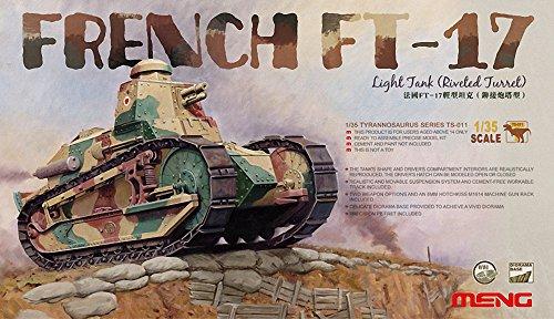 (Meng French FT-17 Light Tank (Riveted Turret) Plastic Model Kit (1/35 Scale) )