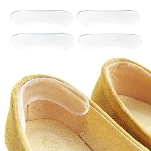 Dancin'feet Transparent Heel Liner Gel Heel Pads Adhesive Heel Insert for Blister Pain Relief - 2 Pairs