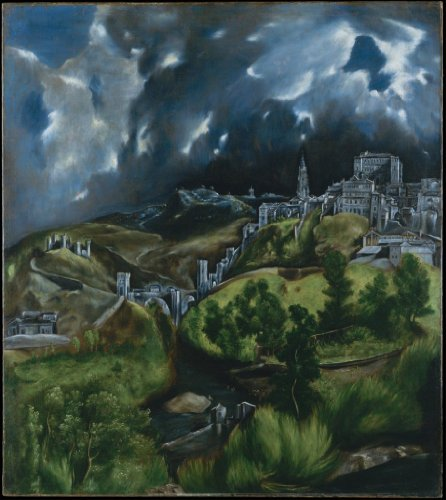 El Greco View of Toledo 18 X 20.16 Canvas Wall (Greco Painting)