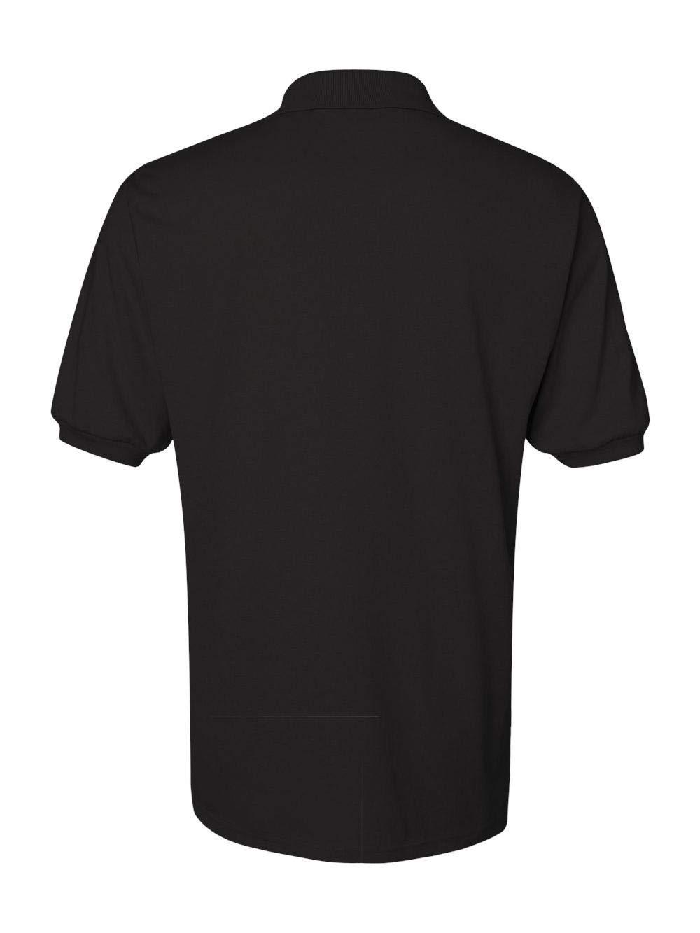 Jerzees Men's Spot Shield Short Sleeve Polo Sport Shirt, Black X-Large by Jerzees (Image #4)