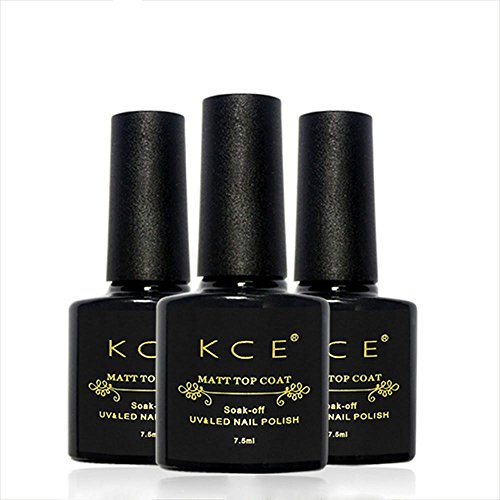 Nail Gel,FTXJ KCE Matte Top Coat Polish Nail Art Finish Top UV Gel Long-lasting