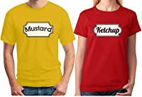 Ketchup u0026 Mustard Matching Couple Halloween Set Easy Costume T-shirts  sc 1 st  Amazon.com & Amazon.com: Ketchup Costume T Shirt Matching Mustard Mayo Relish ...