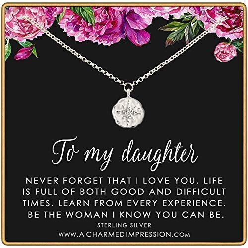 Unique Gifts for Daughter /• Thoughtful Gifts from Mom Dad /• Sterling Silver /• CZ Diamond Starburst Necklace /• Teen Girls /• Encouragement Gifts for Women /• Birthday Christmas /• Inspirational Jewelry