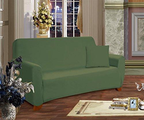 Elegant Comfort Furniture Jersey Stretch Slip-Cover, Sofa Sage-Green