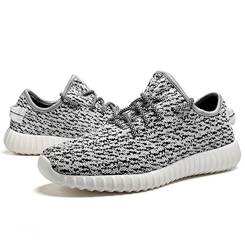 fashionable sale online buy cheap great deals Saibhreas Men's Women's Running Shoes Lightweight Mesh Sneakers Breathable Casual Rice White amazon footaction outlet store sale online best place to buy BkALt6exk