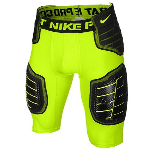(Nike Pro Combat Hyperstrong Football Girdle, Volt/Black X-Large)
