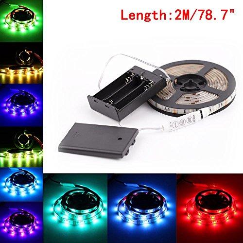 OEXEO RGB 5050 Flex LED Light Strip, Waterproof IP65 TV Backlight Strip Light (2 M, multicolor)