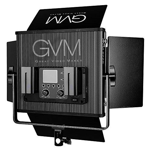 LED Video Light GVM 672S CRI97+ TLCI97+ 18500lux Dimmable Bi-color 3200K-5600K Light For Outdoor Interview Studio Portrait Photographic Kit Tungsten Soft Light Stand