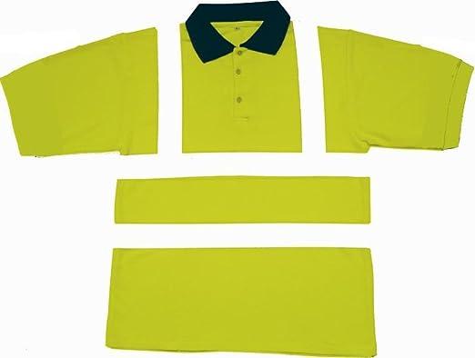 Hi Viz amarillo Polo de manga corta reflectante EN471 de alta ...