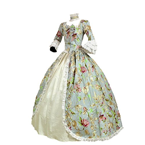 Partiss Womens Victorian Renaissance Costume Marie Antoinette Theater Ball Gown Dress,XS,As picture (Renaissance Ball Gown)