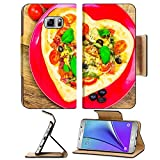 Luxlady Premium Samsung Galaxy Note 5 Flip Pu Leather Wallet Case Note5 IMAGE ID 25639700 Delicious italian pizza served on wooden table offers