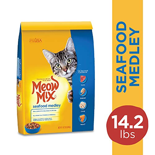 Meow Mix Seafood Medley Dry Cat Food, 14.2 Pounds
