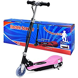 Maxtra E120 160lbs Max Weight Capacity Electric Scooter Motorized Bike Rechargeable Battery (Pink)