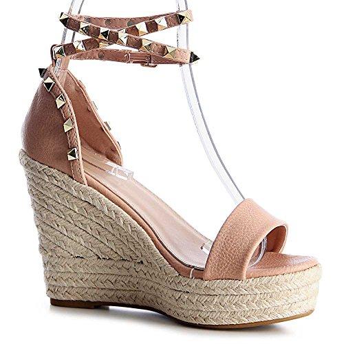 topschuhe24 - Sandalias de vestir para mujer Rosa