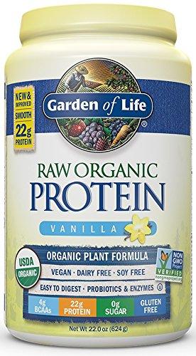 Garden of Life Protein Powder - Organic Raw Protein Shake with Vitamins and Probiotics, Sugar Free, Vanilla, Vegan, Gluten-Free, 22oz (624g) Powder