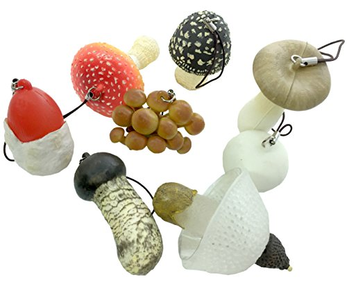 Kitan Club Soft Rubber Mushroom Plastic Toys - Beautiful, Lightweight Charms - Blind Box Includes 1 of 8 Collectable Figurines - Authentic Japanese Design - Made from Durable Plastic