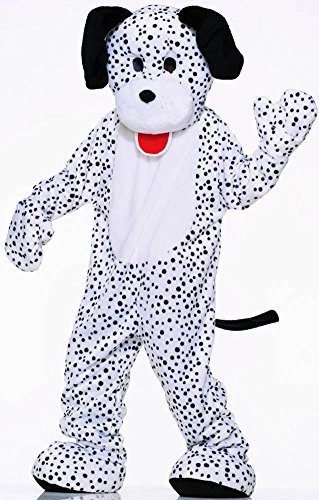 Deluxe Apple Dress Costumes (Forum Deluxe Plush Dog Mascot Dalmatian Costume, Black/White, One Size)