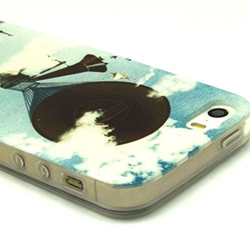 iPhone 5S Coque souple en TPU, yaobaistore Coque de protection en TPU pour Apple iPhone 5/5S Coque souple en silicone gel
