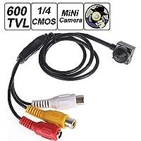 HIFROM(TM) Mini 600TVL 1 / 4 HD Smallest Camera Video Camera with 3.7mm Camera Lens Mini CCTV Security Video surveilance Micro 600TVL Cam
