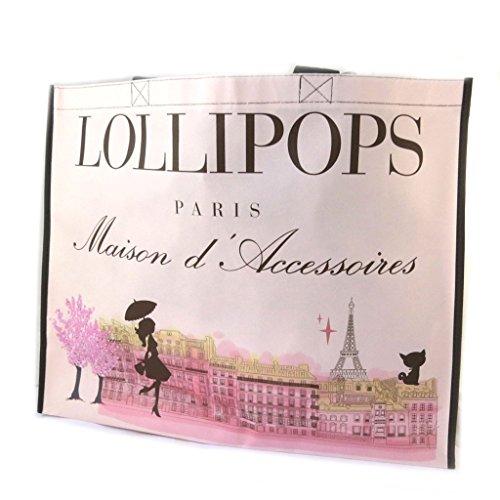 Shopping bag 'Lollipops'pink - 47.5x38x16 cm (18.70''x14.96''x6.30'').