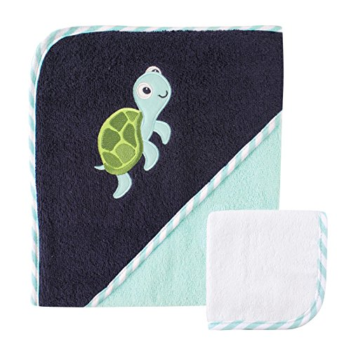 - Luvable Friends Hooded Towel and Washcloth, Turtle