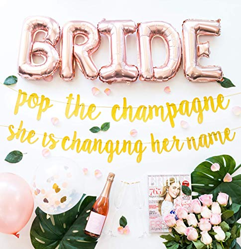 bachelorette party decorations kit bridal shower supplies bride to be sash champagne