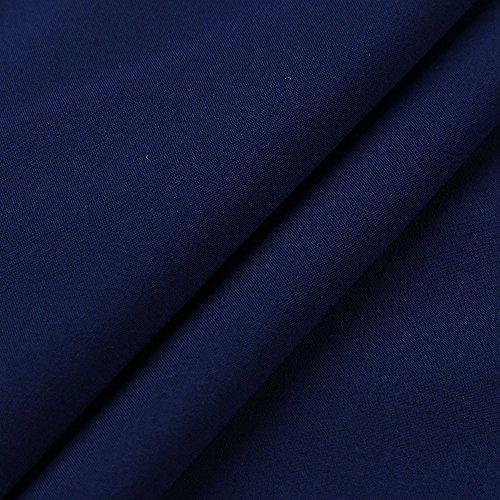 Camicetta Donne Cime Blu Blusa Manica Donna Unita Maglietta Sciolto Scollo Girocollo T Tinta Corta Tops A V Camicie Tunica shirt Scuro Elegante Casual Primavera Weant Estate AwEa6WxqFn