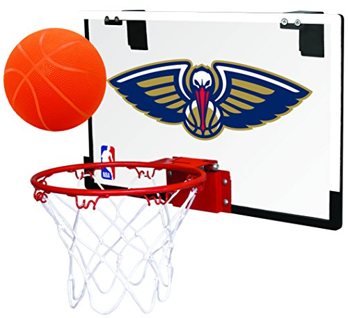 Rawlings NBA New Orleans Pelicans 00664211111NBA Game On Polycarbonate Hoop Set (All Team Options), Red, Youth