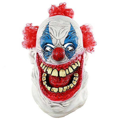 Balai Halloween Mask for Festival Cosplay Halloween Costume Party Props Masks Horror Mask - Latex Horror Clown Mask Evil Clown Mask Pumpkin Mask Scared Ghost Head Costume Decorations by Balai